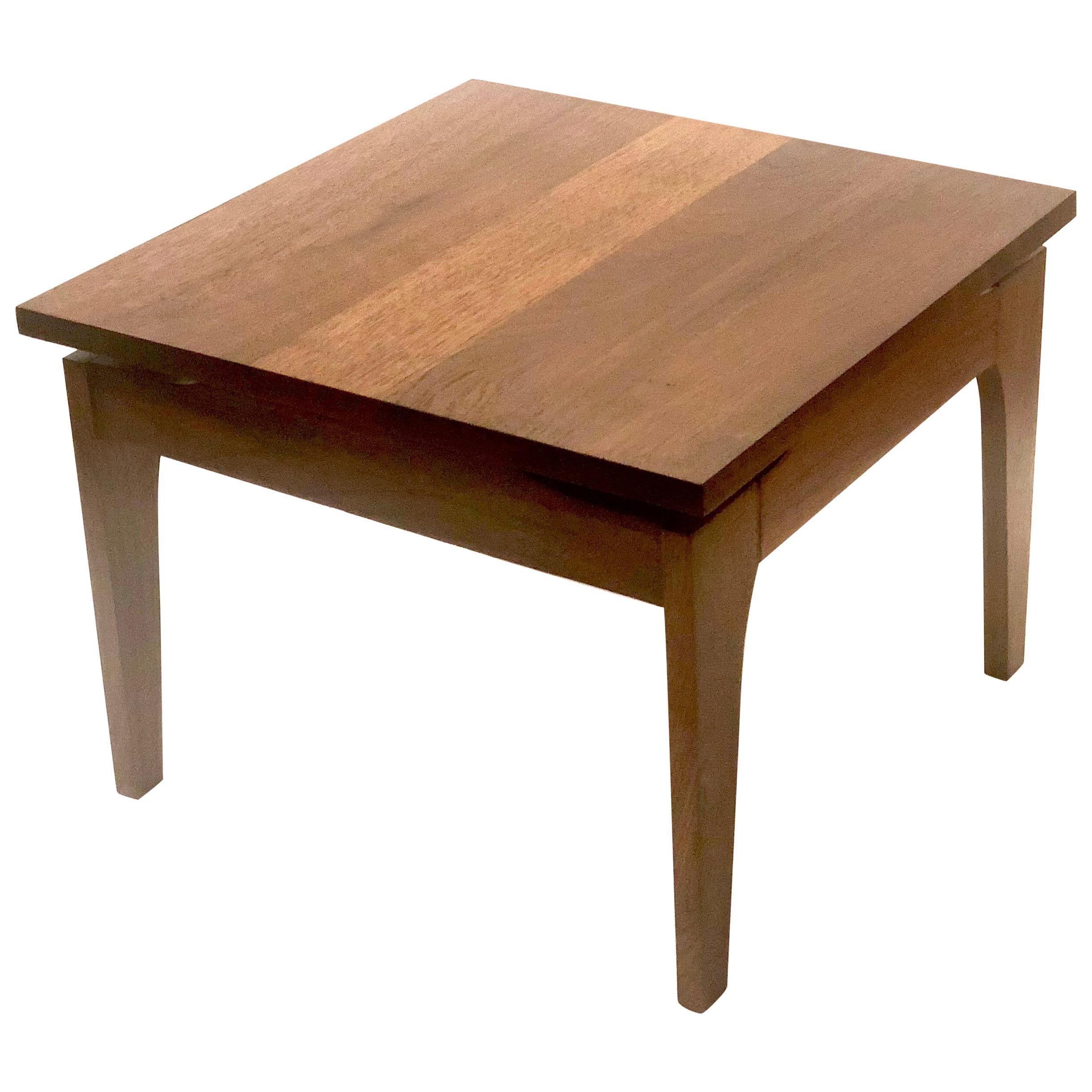 American Mid-Century Modern Solid Walnut Petite Cocktail or End Table