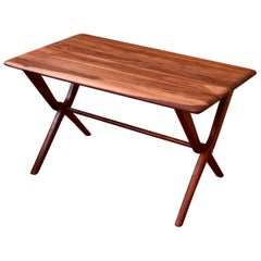 American Mid-Century Modern Solid Walnut Small Coffee Cocktail Table