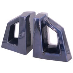 American Mid-Century Modernist Pair of Ceramic Bookends by Jaru Pottery