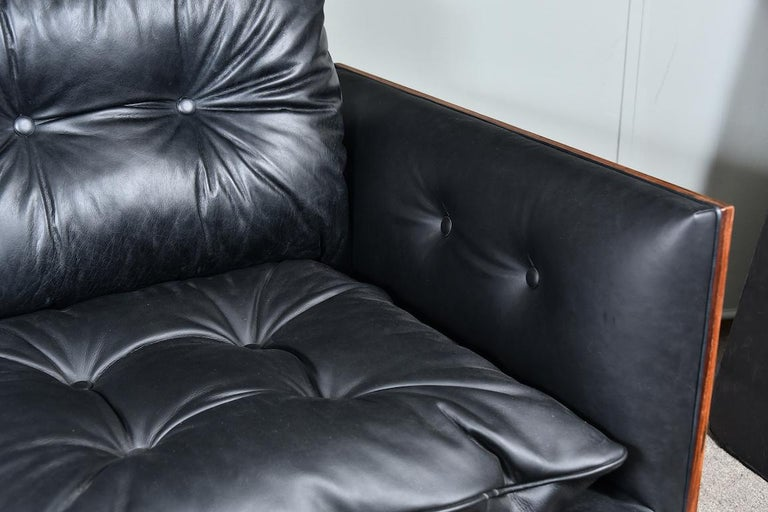 Leather American Midcentury Sofa Done by W. Platner For Sale