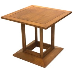 American Mid Century Walnut Small Cocktail Table by Heritage