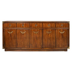 American Midcentury Campaign Style Accolade Credenza by Drexel