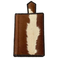 American Mid-Century Cowhide Desk Accessory With Letter Opener