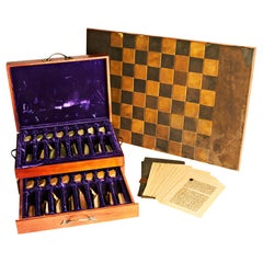 American Midcentury, Hand Cast & Polished, Limited Edition, Shah Mat Chess Set