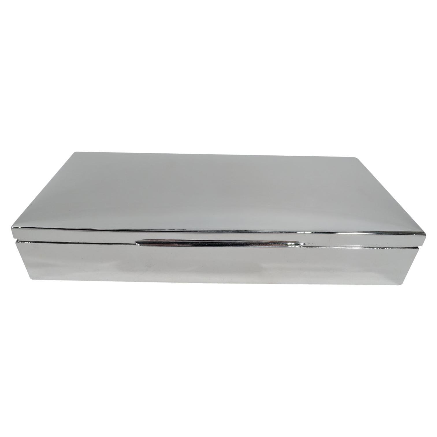 American Mid-Century Modern Sterling Silver Box