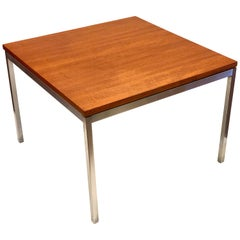 American Midcentury Small Square Teak Coffee Table by Knoll