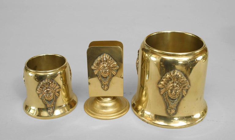 American Mission Brass Smoking Set For Sale 1
