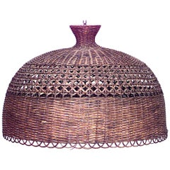 American Mission Natural Wicker Dome Shaped Ceiling Shade