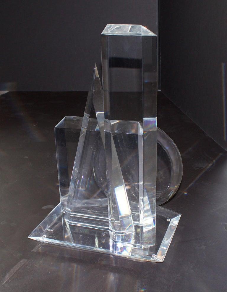 Mid-Century Modern American Modern 3-Dimensional Lucite Sculpture, Hivo Van Teal For Sale