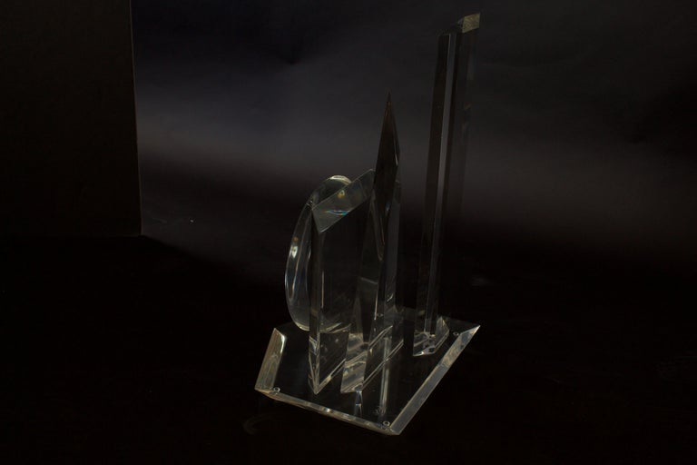 American Modern 3-Dimensional Lucite Sculpture, Hivo Van Teal In Good Condition For Sale In Miami, FL