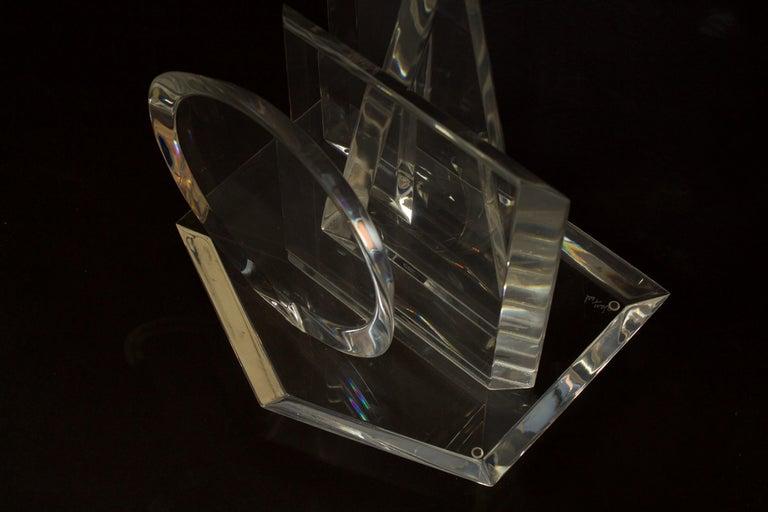 American Modern 3-Dimensional Lucite Sculpture, Hivo Van Teal For Sale 1