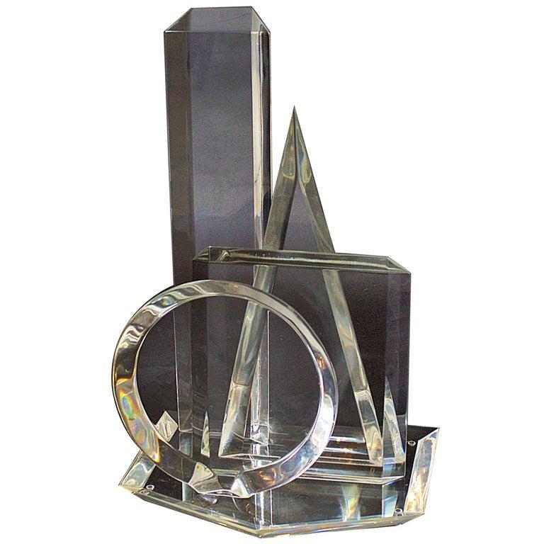 American Modern 3-Dimensional Lucite Sculpture, Hivo Van Teal For Sale