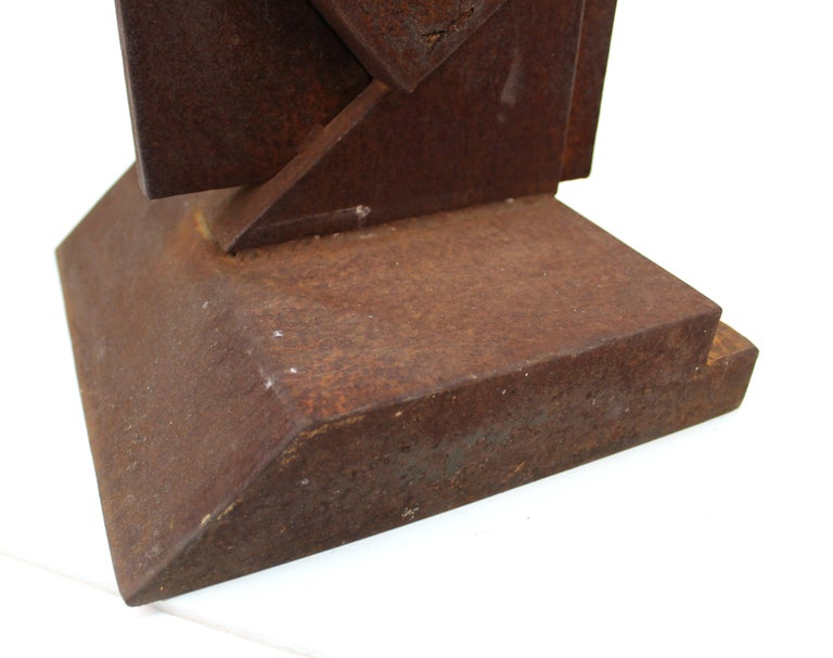 American Modern Abstract Brutalist TOTEM Sculpture For Sale 6