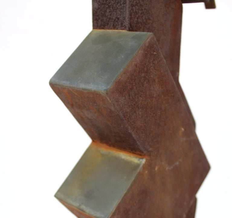 American Modern Abstract Brutalist TOTEM Sculpture For Sale 8