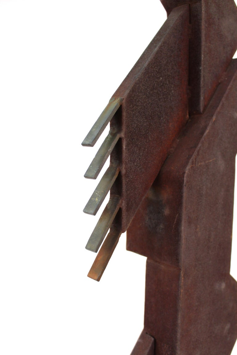 American Modern Abstract Brutalist TOTEM Sculpture For Sale 9