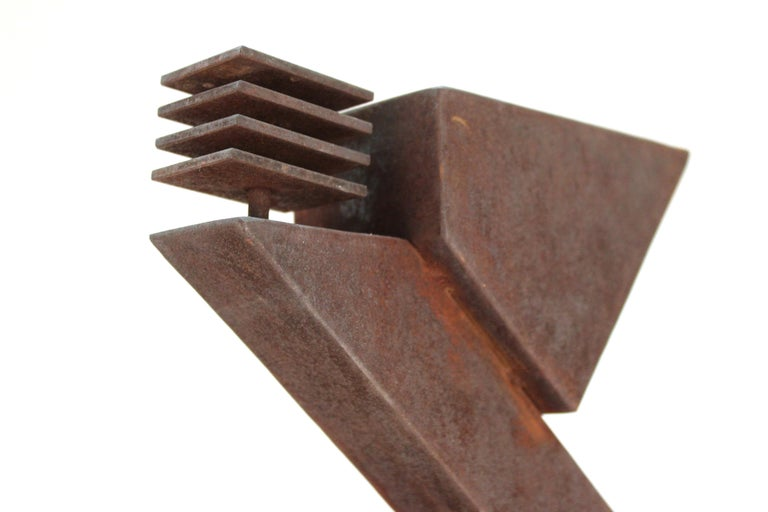 American Modern Abstract Brutalist TOTEM Sculpture For Sale 10