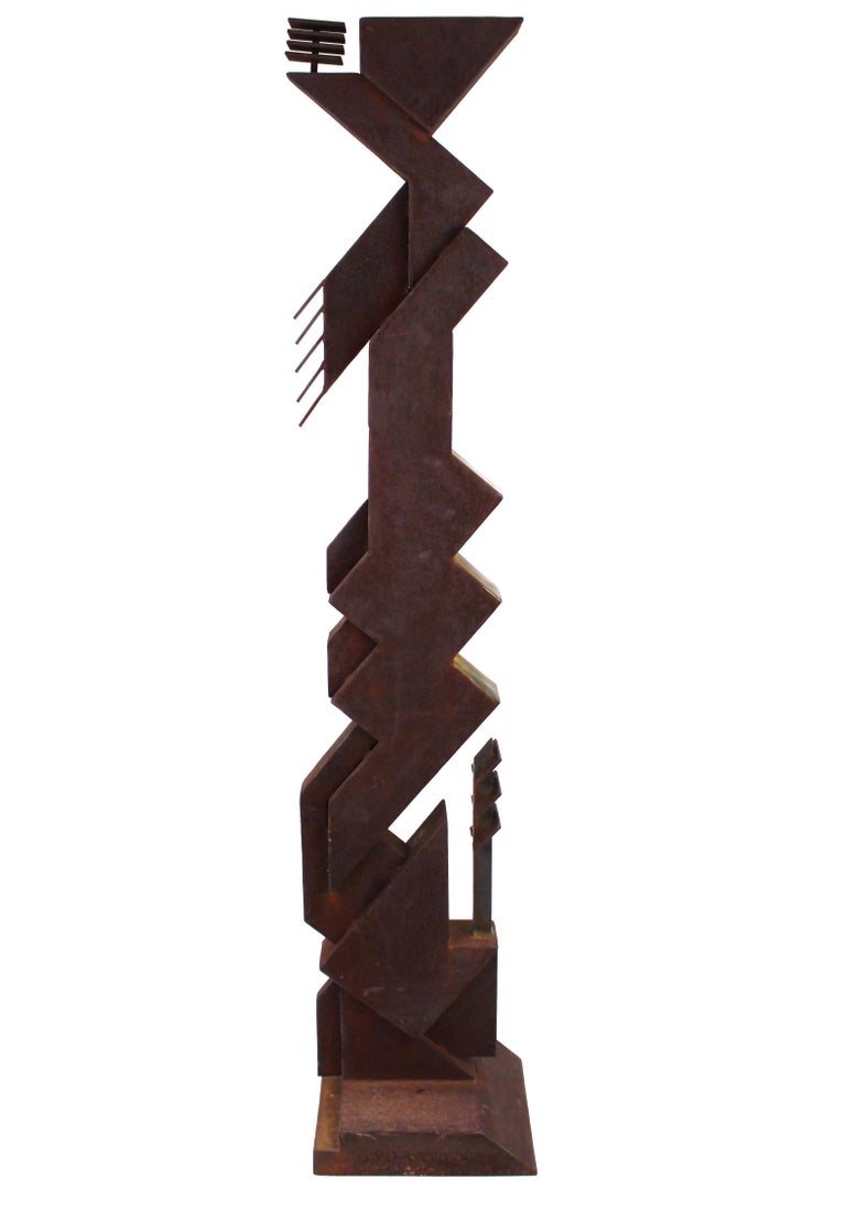 Late 20th Century American Modern Abstract Brutalist TOTEM Sculpture For Sale