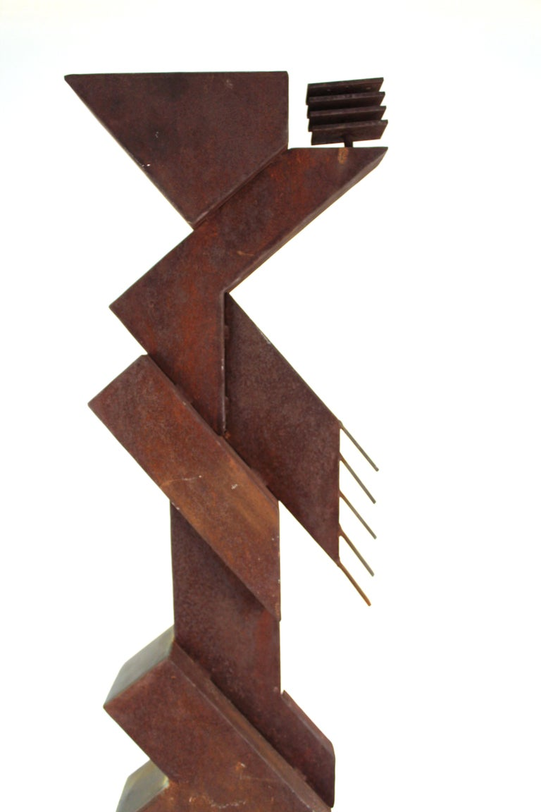 American Modern Abstract Brutalist TOTEM Sculpture For Sale 1