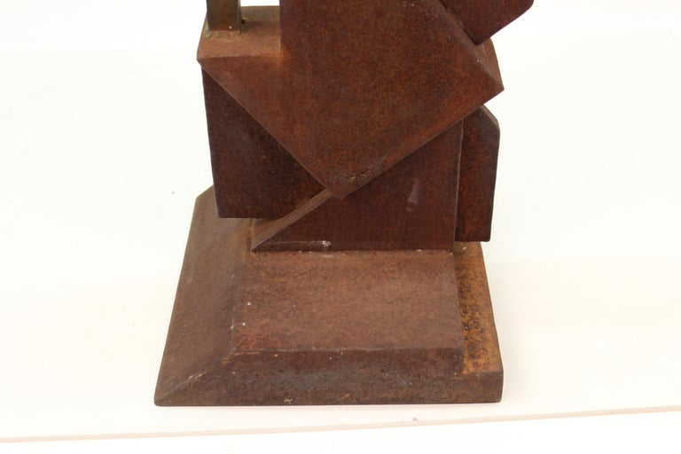 American Modern Abstract Brutalist TOTEM Sculpture For Sale 3