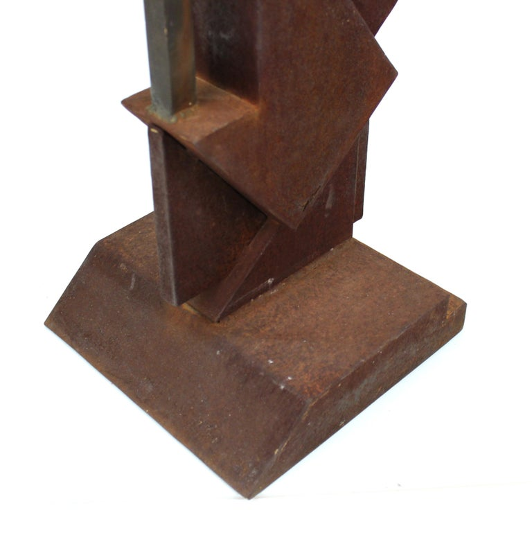 American Modern Abstract Brutalist TOTEM Sculpture For Sale 4