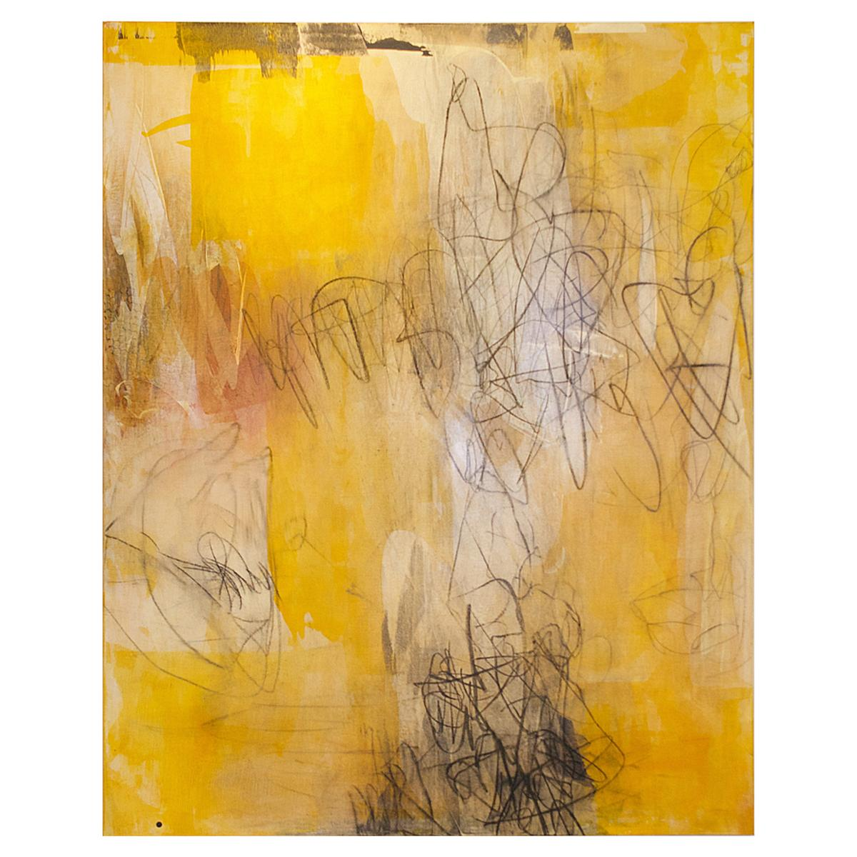 American Modern Abstract Expressionist Mixed Media on Board, Elliot Twelvetrees