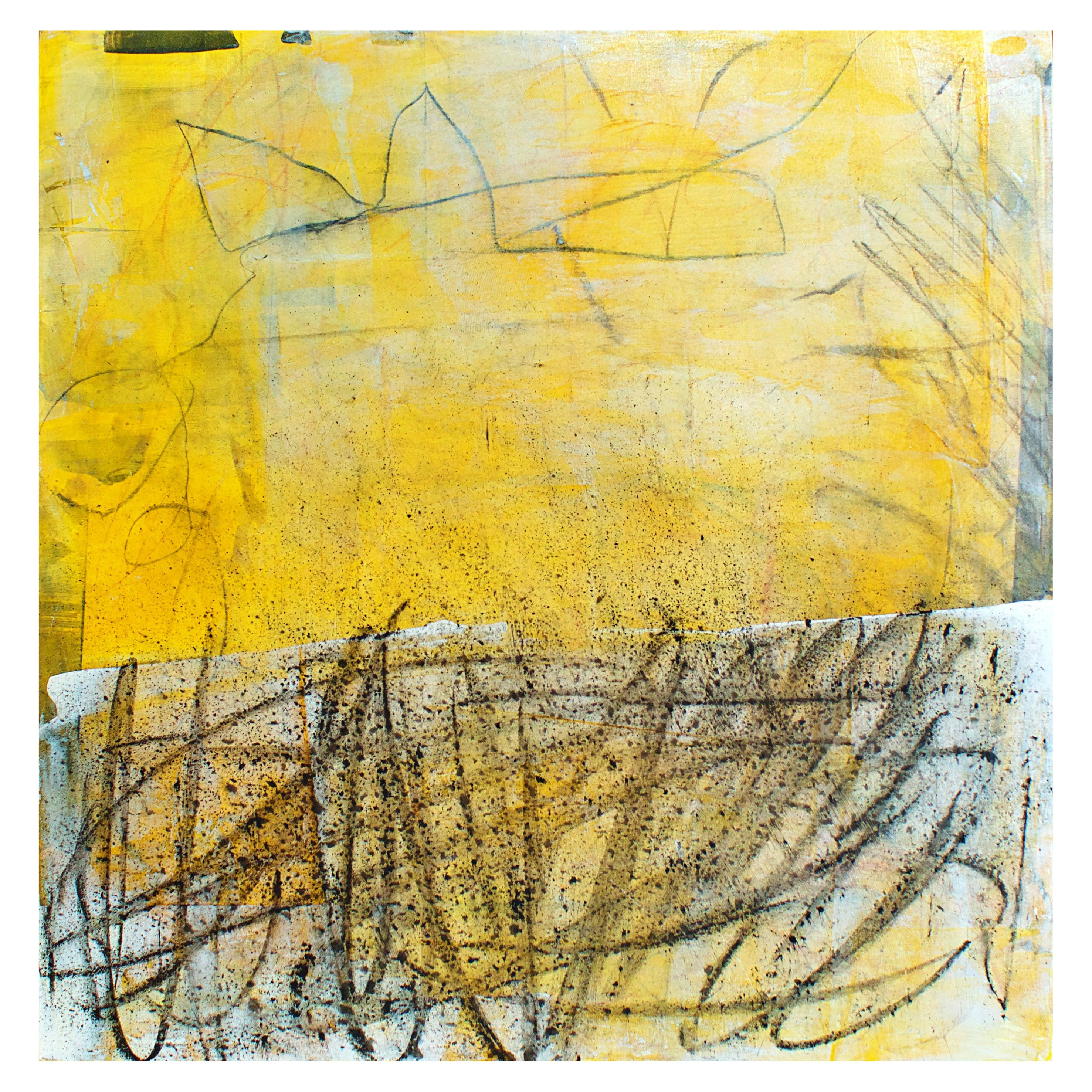 American Modern Abstract Expressionist Mixed-Media on Board, Elliot Twelvetrees