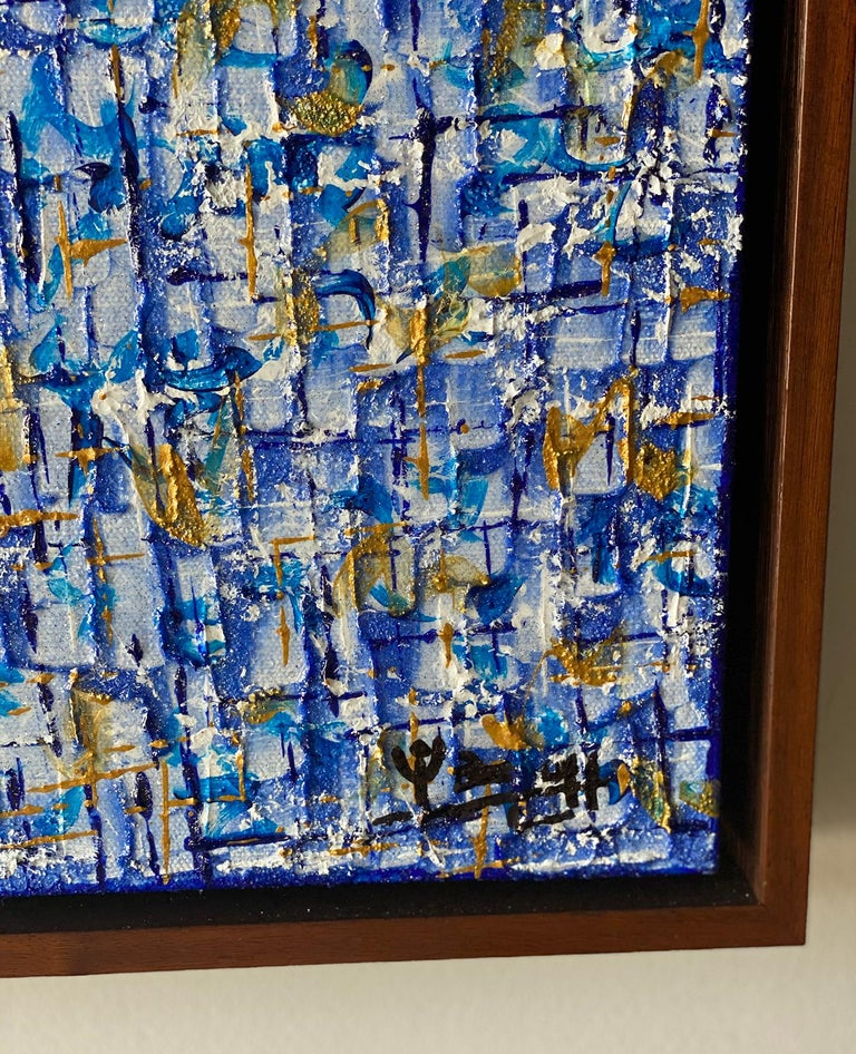 American Modern Abstract Mixed-Media on Canvas