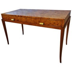American Modern Burled Walnut and Walnut Desk, Parzinger Originals