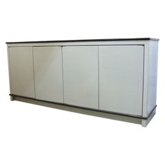 American Modern Cabinet with Craquelure Surface