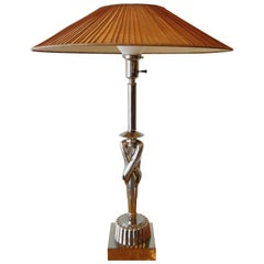 American Modern Chrome Table Lamps, Viktor Schreckengost, 1930s