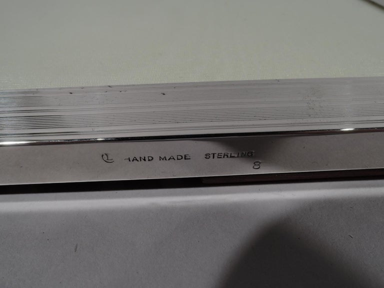 American Modern Handmade Sterling Silver Picture Frame For Sale 2