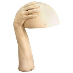 American Modern Richard Etts Plaster Hands Table Lamp