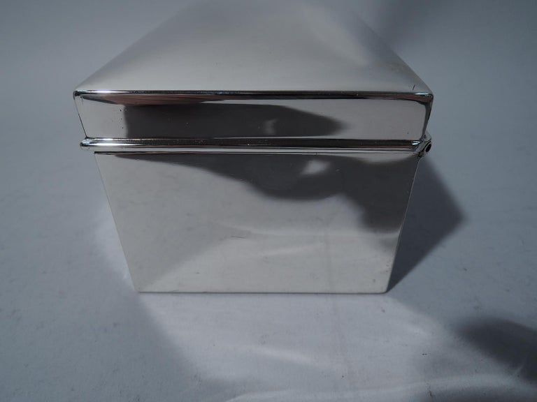 American Modern Sterling Silver Casket Box by Tiffany In Excellent Condition For Sale In New York, NY