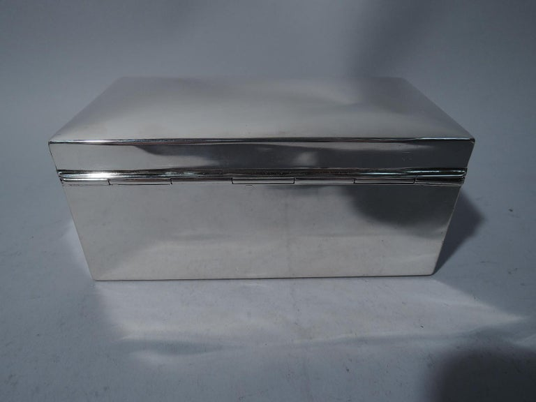 20th Century American Modern Sterling Silver Casket Box by Tiffany For Sale