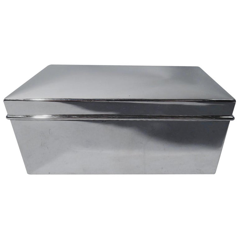 American Modern Sterling Silver Casket Box by Tiffany For Sale