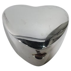 American Modern Sterling Silver Heart-Shaped Ring Box