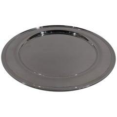 American Modern Sterling Silver Serving Plate