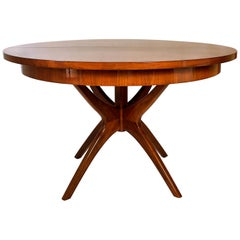 American Modern Walnut Extension Dining Table, Adrian Pearsall
