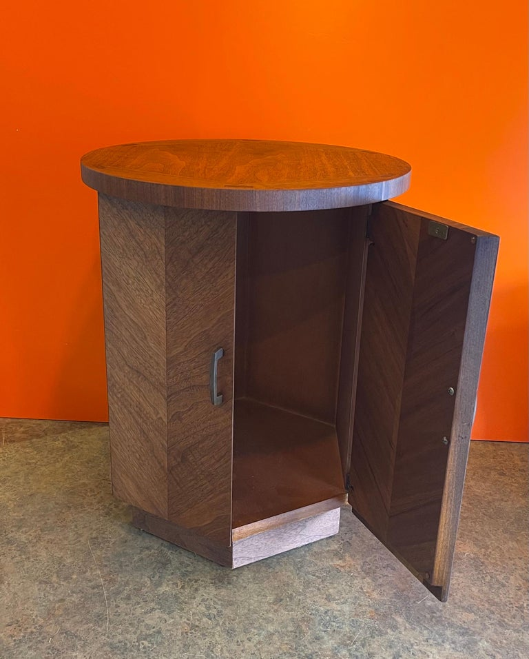 American Modern Walnut Side Table / Cabinet