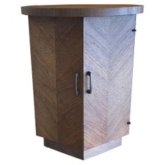 "American Modern Walnut Side Table / Cabinet ""Altavista"" Series by Lane Furniture"