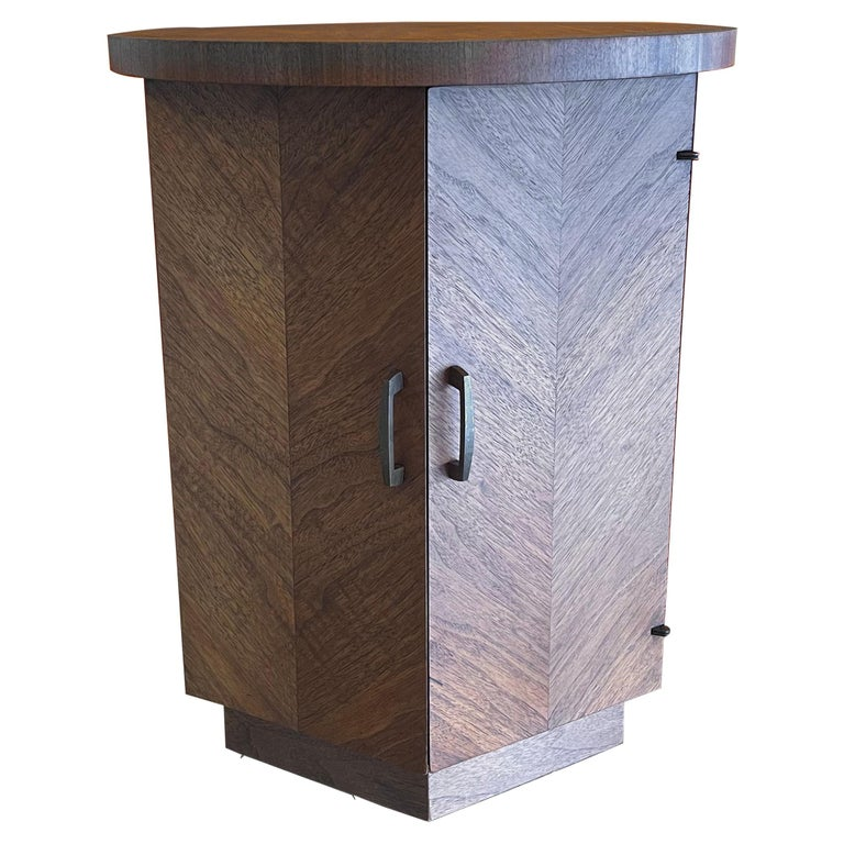 "American Modern Walnut Side Table / Cabinet ""Altavista"" Series by Lane Furniture For Sale"
