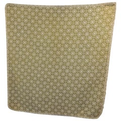 American Moss Green and Natural Quilted Blanket with Small Ruffles