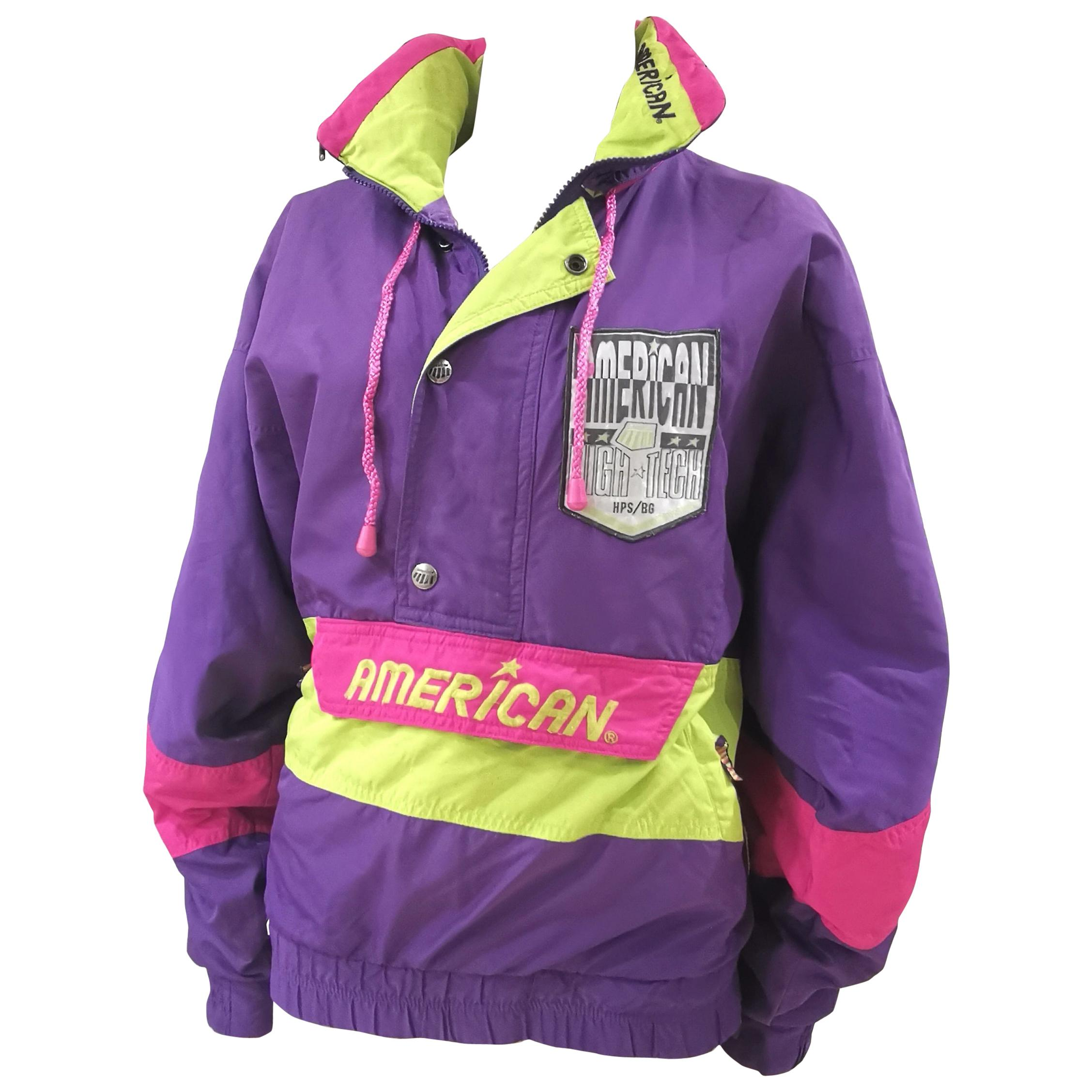American multicoloured hoodie sweater