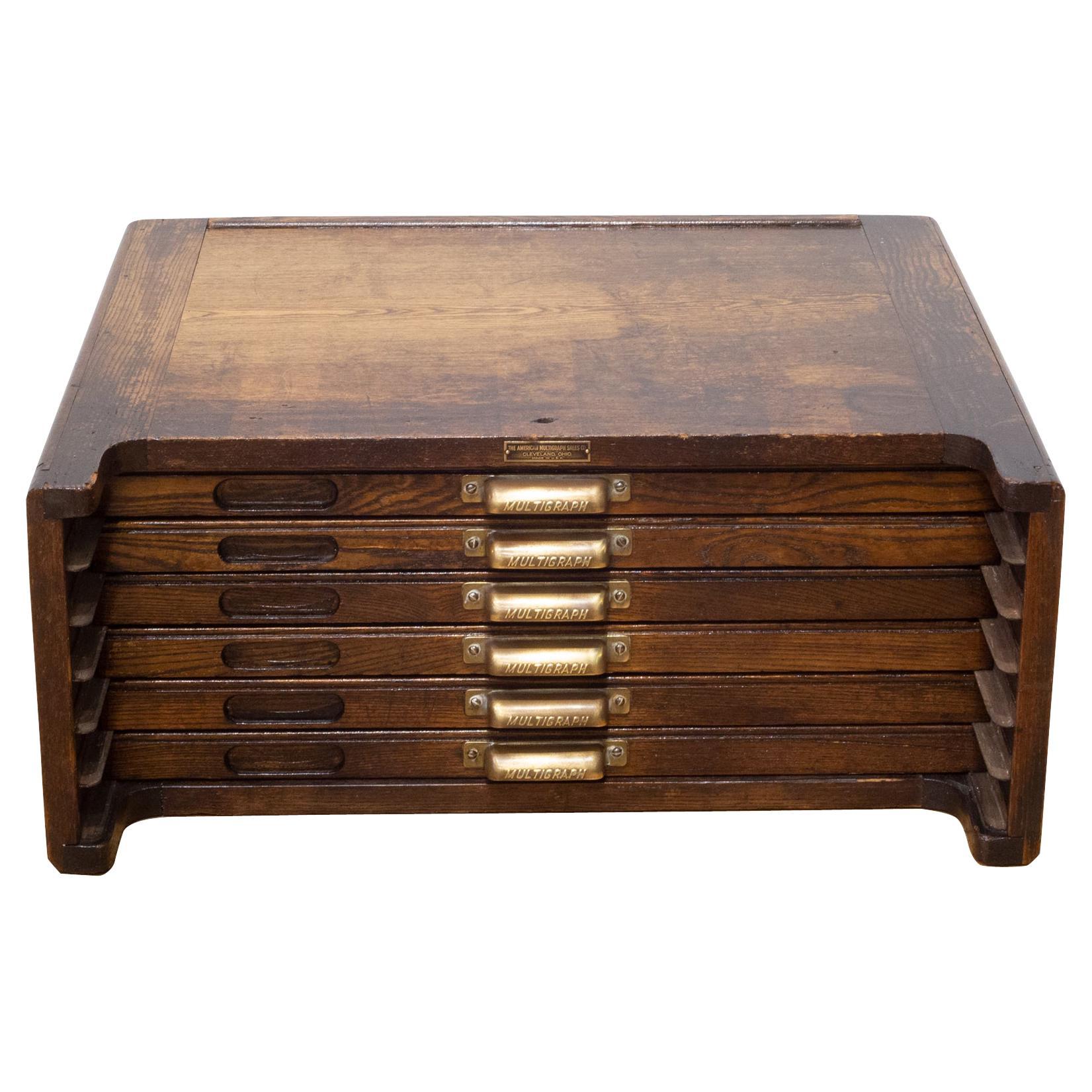American Multigraph Sales Co. Printer's Typeset Cabinet, c.1920-1930
