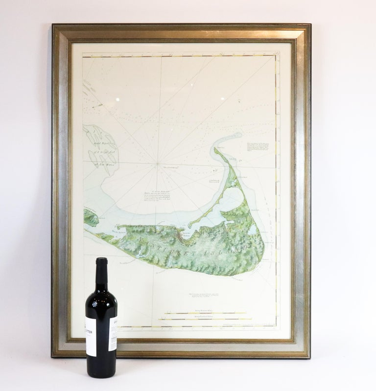 20th Century American Neptune Chart of Nantucket For Sale
