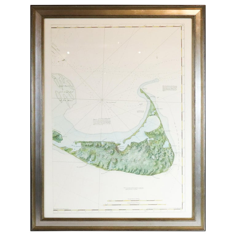 American Neptune Chart of Nantucket For Sale