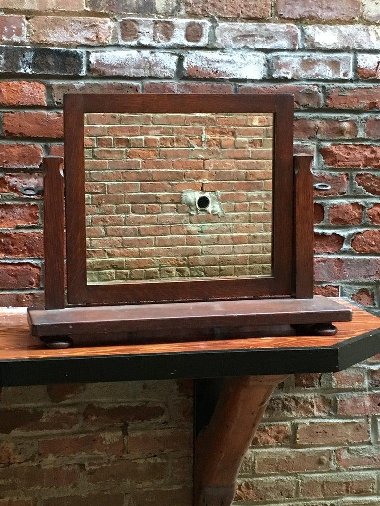 Arts and Crafts American Oak Arts & Crafts Dresser Mirror For Sale
