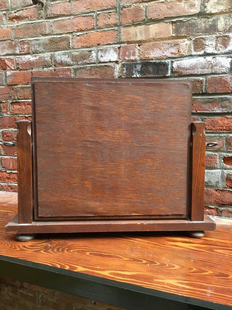 20th Century American Oak Arts & Crafts Dresser Mirror For Sale