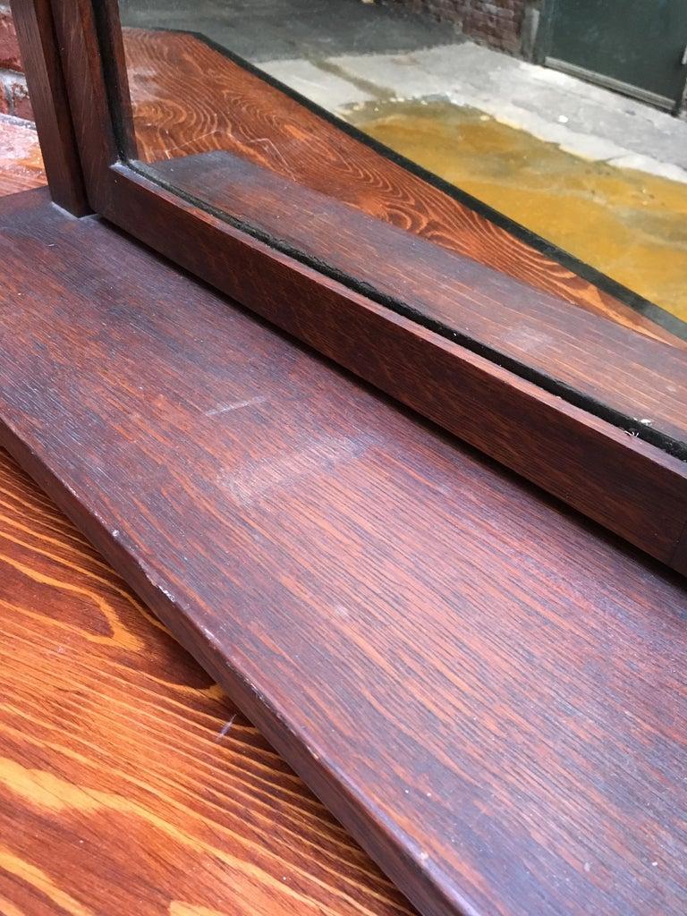 American Oak Arts & Crafts Dresser Mirror For Sale 4