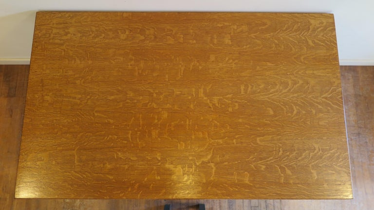 American Oak Library Desk In Good Condition For Sale In New York, NY